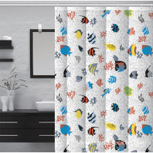 Waterproof Bathroom printed Shower Curtain Clawfoot Tub
